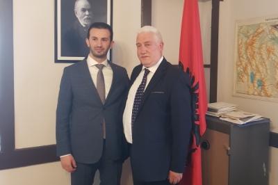 Takimi i ministrit Suhejl Fazliu me ambasadorin e Shqipërisë, Fatos Reka