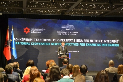 Министерот Фазлиу на регионална конференција за територијална соработка во Тирана