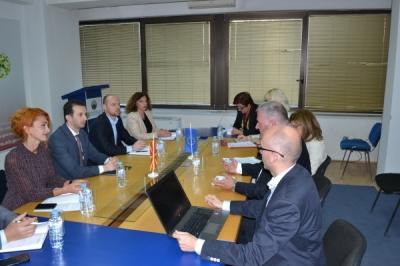 Takim me anëtarët e misionit mbikëqyrës të Kongresit  për pushtet lokal dhe regjional të Këshillit të Evropës