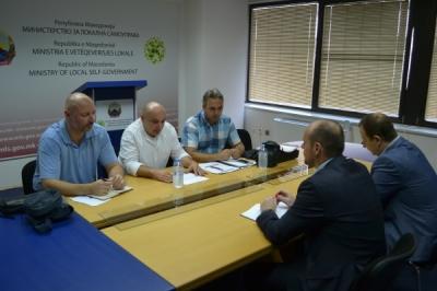 Средба на заменикот министер Павлески со Независниот синдикат на пожарникари на Македонија