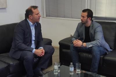 Ministri Fazliu u takua me ministrin për punë të brendshme Oliver Spasovski