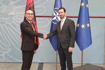 Ministri i vetëqeverisjes lokale Suhejl Fazliu takoi zëvendës ministrin Sokol Dedja