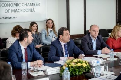 Zëvendëskryeministri Angjushev dhe ministri Fazliu në takim me kryetarët e komunave të rajonit planor të Shkupit