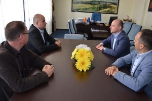 Deputy Minister of Local Self-Government Dejan Pavleski on a visit to municipality of Vinica