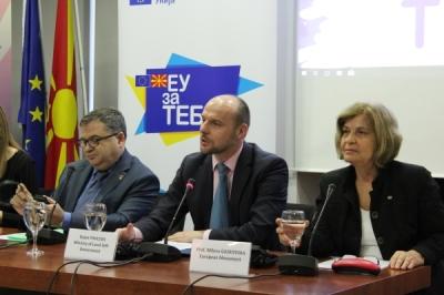 """Заменикот министер за локална самоуправа, Дејан Павлески на Конференција на тема """"Нови предизвици, нови перспективи на локалната демократија"""""""