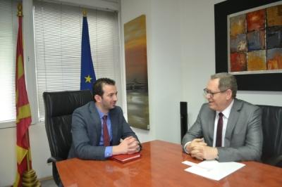 Министерот за локална самоуправа Сухејл Фазлиу се сретна со полскиот амбасадор Војциех Тицињски
