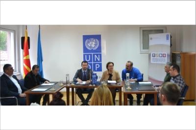 Прес конференција на Министерот за локална самоуправа и постојаниот претставник на УНДП