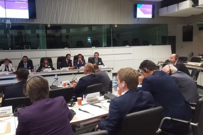 Министерот за локална самоуправа Сухејл Фазлиу на состанок на Заедничкиот консултативен комитет меѓу Република Македонија и Комитетот на регионите на ЕУ, во Брисел