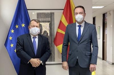Министерот Милевски оствари средба со Холандскиот Амбасадор Дирк Јан Коп