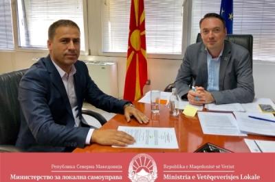 Министерот за локална самоуправа Горан Милевски оствари средба со директорот на државниот инспекторат за локална самоуправа, Сеад Садикоски