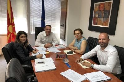 Министерот за локална самоуправа Горан Милевски денеска оствари прва средба со постојаната претставничка на УНДП во Република Северна Македонија, Нарине Сахакјан