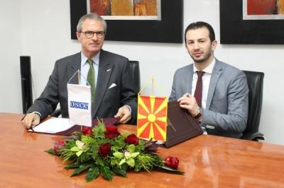 Потпишан Меморандум за соработка меѓу Министерството за локална самоуправа и Мисијата на ОБСЕ во Скопје