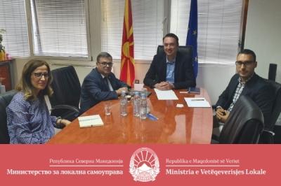 Министерот за локална самоуправа оствари средба со амбасадорот на Франција во Република Северна Македонија