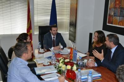 Средба на министерот Фазлиу со претставниците на управниот орган  на ИПА - Програмата  за прекугранична соработка со Грција