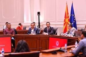 Minister Fazliu received the students of the Faculty of Law of SEEU