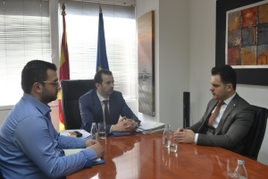 Minister Fazliu met with the Mayer of Zhelino, Mr. Blerim Sejdiu