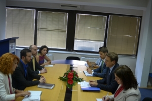 Meeting of the Minister Fazliu with the Ambassador Zbogar