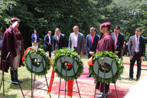 Minister of Local Self-Government Suhејl Fazliu at the celebration of the Day of the Republic-2nd August in Krusevo