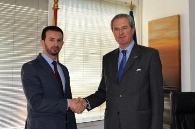 Takimi i ministrit për vetëqeverisje lokale Suhejl Fazliu me ambasadorin e OSBE-së, Clemens Koja